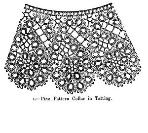 Tatting - Pine Pattern Collar in Tatting