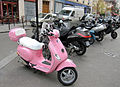 Pink Vespa, Marais district, Paris 2009.jpg