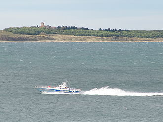 Croatia–Slovenia border disputes - Slovenian police/coast guard boat P111 in the Gulf of Piran