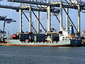 Pirita IMO 9108063 loading and unloading in the Amazone harbour Port of Rotterdam 14-Jan-2007.jpg