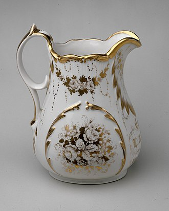 East Liverpool, Ohio - Pitcher, c. 1861, by William Bloor's East Liverpool Porcelain Works