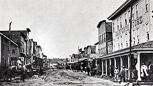 Pithole, Pennsylvania - View of Holmden Street from First Street