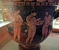 Pittore degli argonauti (etrusco), cratere con personaggi maschili nudi, prbabilm. argonauti, 400-380 ac ca, da chiusi 04.JPG