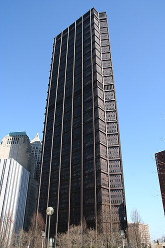 U.S. Steel Tower - The tower before 2008 signage