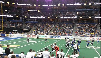 Pittsburgh Power - Pittsburgh Power playing against the Tampa Bay Storm at the Tampa Bay Times Forum on July 20, 2013.