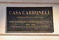 Placa a la Casa Carbonell, Alacant.JPG