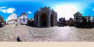 Place Barthelemy with the church St Maclou, 360deg-panorama 2019 show as 360deg surround photography Place Barthelemy, Rouen, France - 360deg panorama 2019.jpg