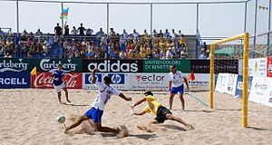 Beach soccer - International match