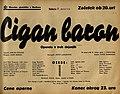 Plakat za predstavo Cigan baron v Narodnem gledališču v Mariboru 2. marca 1940.jpg