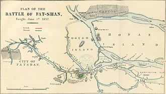 Battle of Fatshan Creek - Image: Plan of the Battle of Fat shan