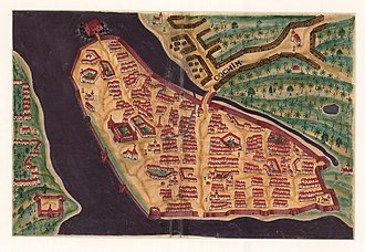 Kochi - Kochi City around 1635