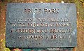 Plaque, Brice Park - geograph.org.uk - 1393210.jpg