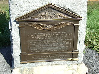 J. Johnston Pettigrew - Bronze Plaque