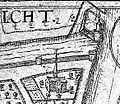 Plattegrond Maastricht uit atlas Civitates Orbis Terrarum (Braun en Hogenberg, 1575) - omgeving Schonenvaardersbolwerk.jpg