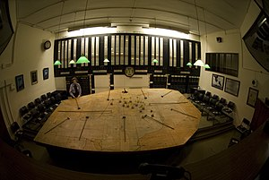 RAF Uxbridge - The plotting table inside the Battle of Britain Bunker