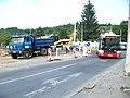 Pod lisem, Trojská, rekonstrukce TT, autobus.jpg