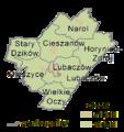 Podkarpackie - lubaczowski county gminas.png