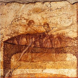Suburban Baths (Pompeii) - Image: Pompeii Terme Suburbane Apodyterium Scene V