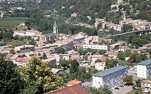 """Aubenas - view of the quarter """"Pont d'Aubenas"""""""