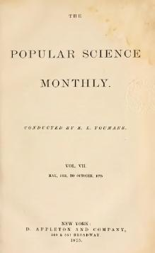 Popular Science Monthly Volume 7.djvu