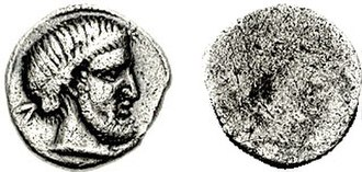 Tinia - Tinia on a Roman As from Etruria