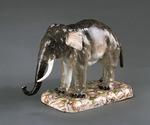 Porslin. Figurin - elefant - Hallwylska museet - 89245.tif