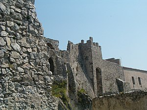 Arechis II of Benevento - Ruins of the Castello di Arechi, a fortress augmented by Arechis after moving his capital to Salerno