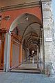 Portico del Pavaglione, incrocio con Via Clavature.JPG