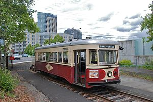 Oregon Electric Railway Historical Society - From 1996 until 2010, this OERHS-owned streetcar, built in 1932 for Portland, served the Willamette Shore Trolley line.
