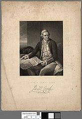 Printed portrait of Captain James Cook