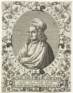 Portret van Raffaele Maffei Raphael Maffeus (titel op object), RP-P-1909-4336.jpg