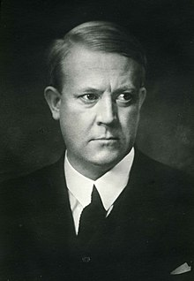 Norwegian Minister-President Vidkun Quisling in civilian clothes