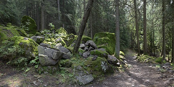 English: The Possteig trail in Pontives, St. Peter (Lajen), South Tyrol.