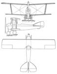 Potez VIII prototype 3-view Les Ailes February 23,1922.png