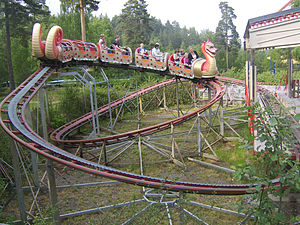 Powered roller coaster - A powered coaster at TusenFryd