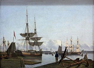 View of the port of Copenhagen