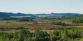 A general view of Prades-sur-Vernazobre
