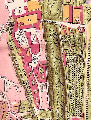 Plan du Château de Prague dressé par Franz Hegert.