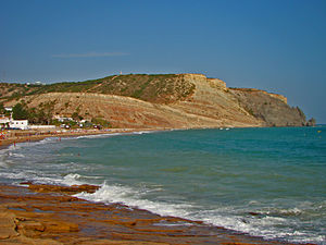 Praia da Luz - The cliffs of Praia da Luz