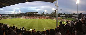 Campbelltown Stadium - Panorama of Campbelltown Stadium prior to Western Sydney Wanderers FC defeating Newcastle Jets FC 2-1 in the 2012-13 A-League season