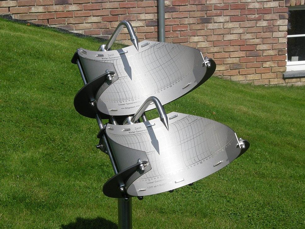 Precision sundial in Bütgenbach-Belgium