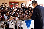 PresidentObamaMLKSchoolNOLAOct2009Handshakes