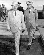 President Harry S. Truman (left) with Admiral Arthur W. Radford, USN.jpg