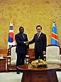 President of the Democratic Republic of Congo meets with President Lee (4475241647).jpg