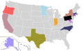 Presidential Candidate Home State Locator Map, 2004 (United States of America) (Expanded).png