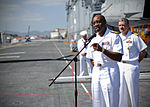 Press conference aboard future USS America during visit to Brazil 140806-N-FR671-249.jpg