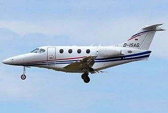 Beechcraft Premier I - Image: Private, Raytheon 390 Premier I, D ISAG (14338584917)