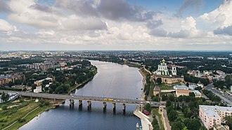 Velikaya River - The Velikaya River in the city of Pskov