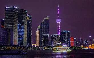 Pudong - Pudong area of Shanghai, at night