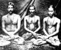 Pulin Bihari Das, Shastri Mahasaya (Kebalananda), Yogananda at 1908 Sadhana Mandir.png